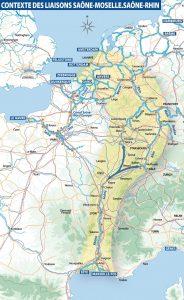 Contexte des liaisons Saône-Moselle.Saône-Rhin © VNF